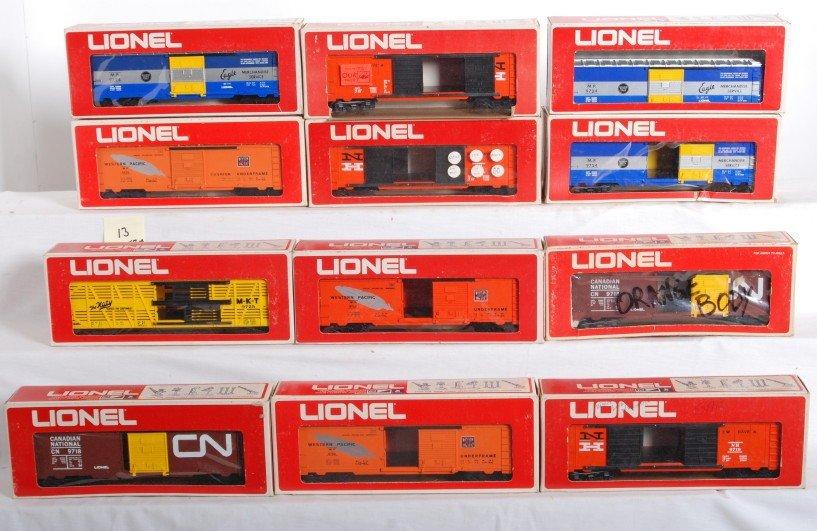 13: Lionel MPC boxcar variations 9723, 9719, etc