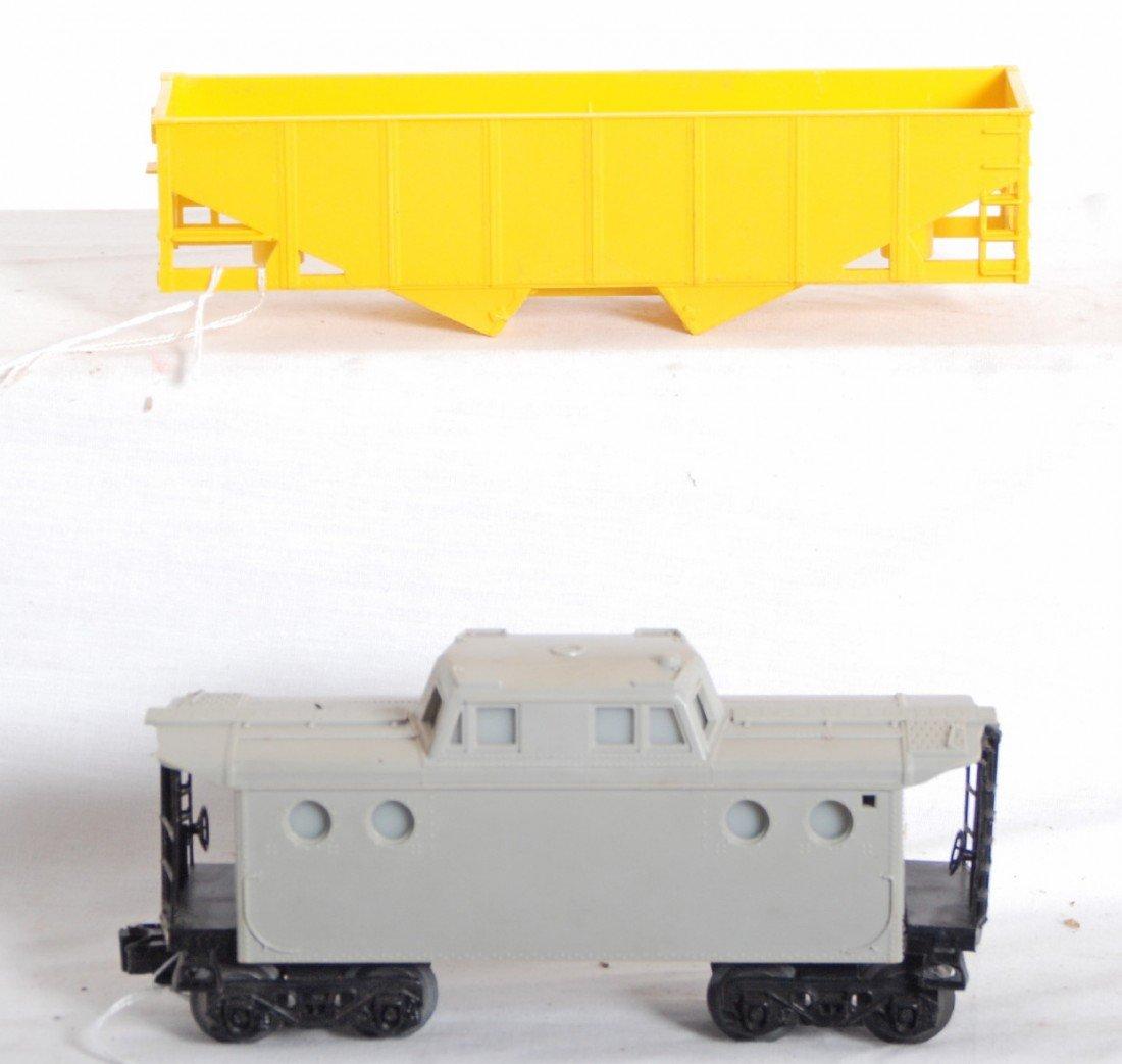 15: Lionel MPC factory error caboose and hopper