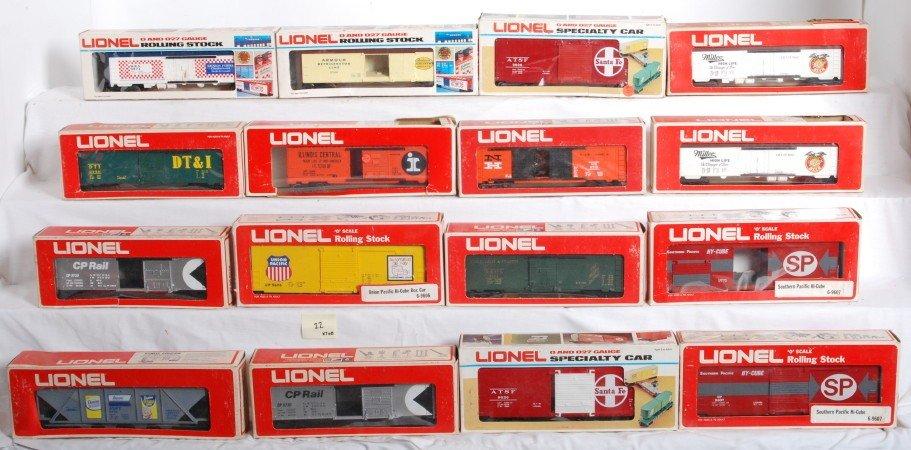 22: 27 Lionel freight cars 9852, 9730, etc