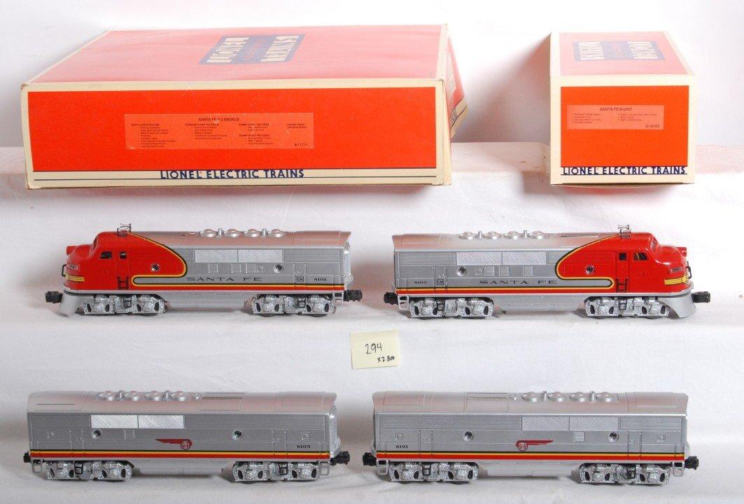 294: Lionel Santa Fe F3 A-B-B-A 11711 and 18103