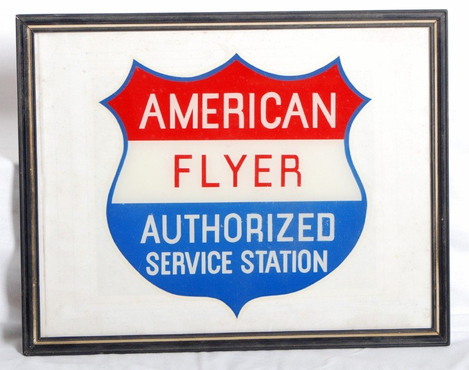 801: American Flyer authorized service station decal