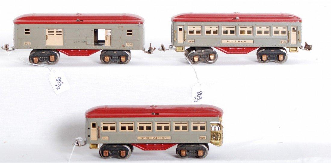 803: Lionel No. 600, 601, 602 passenger cars