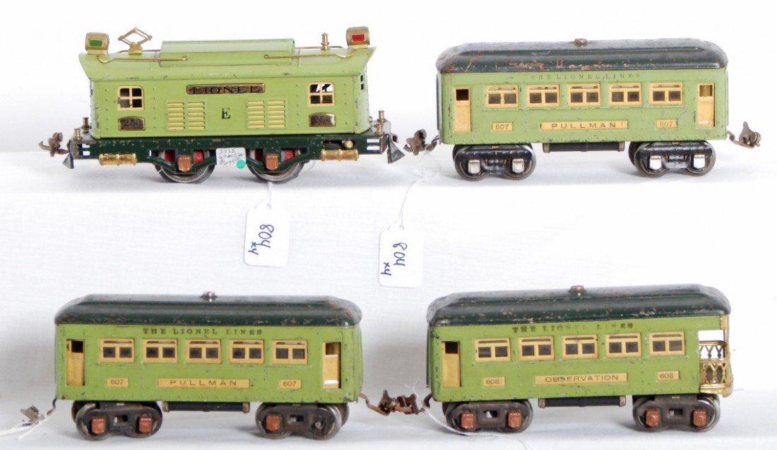 Lionel No 253 Loco 607 607 608 Passenger Cars