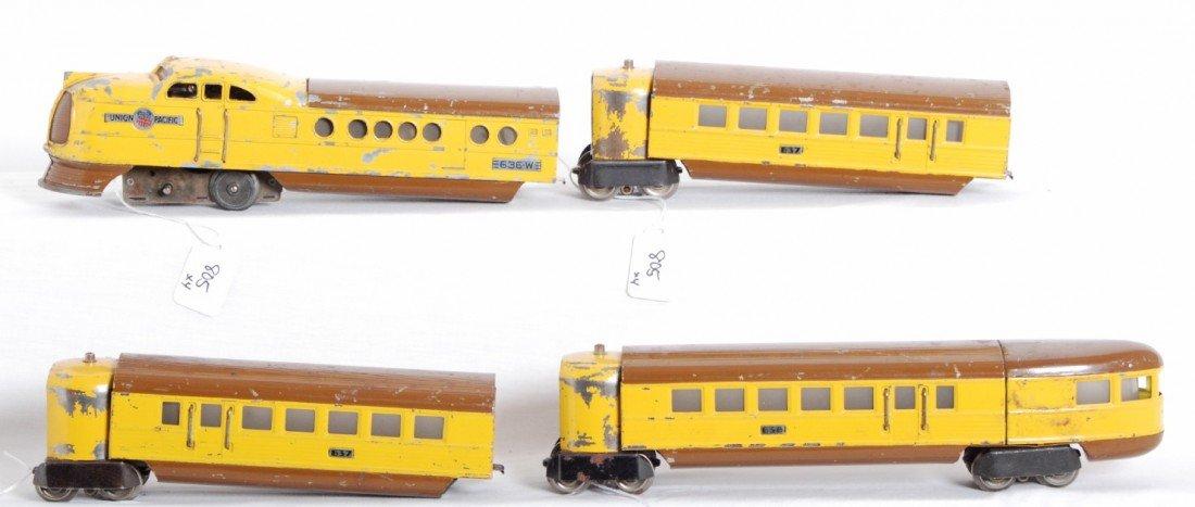 805: Lionel 636W, 637, 637, 638 Union Pacific City of D