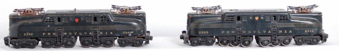 808: Lionel 2332 and 2340 Pennsylvania GG-1 locos