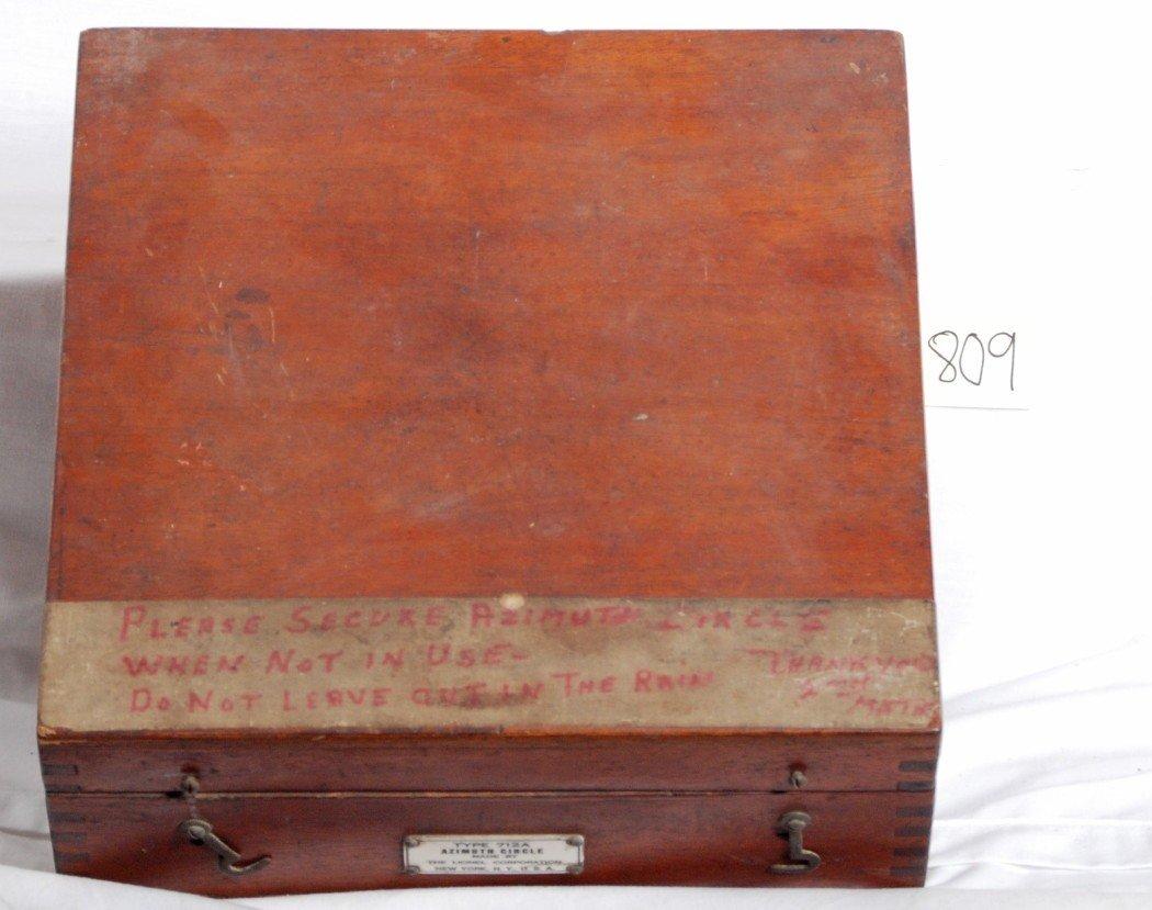 809: Lionel type 712A Azimuth Circle in original box