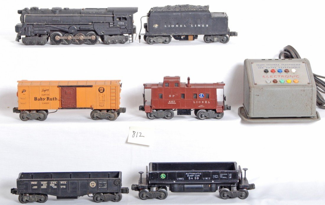 812: Lionel electronic steam freight set, 671, tender,