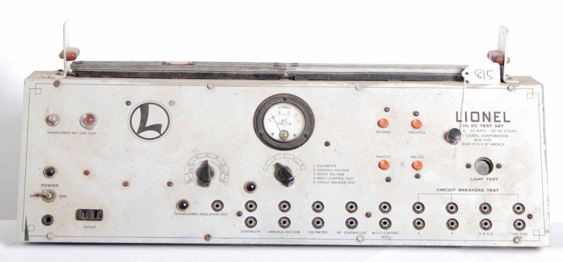 815: Lionel postwar No. 5C dealer test bench w/leads