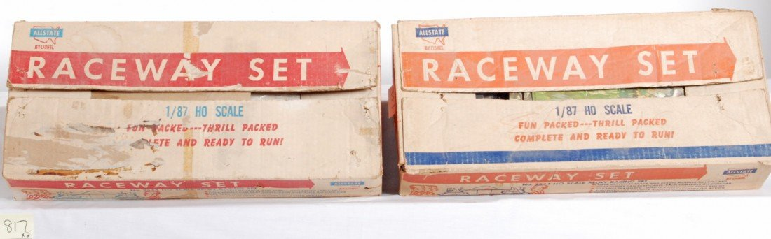 817: Two Lionel No. 9544 HO scale relay racing sets in