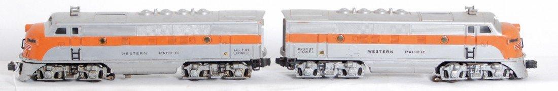 821: Lionel No. 2345 Western Pacific EMD F3 diesels