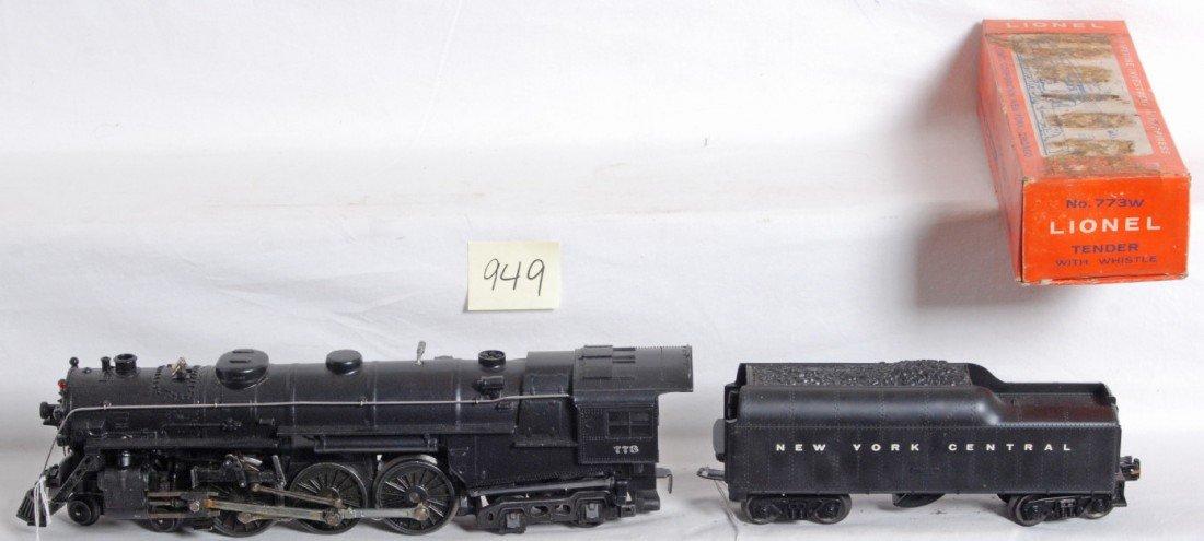 949: Lionel No. 773 Ô64 Hudson w/773W NYC tender