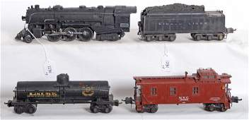 1234: Lionel prewar steam loco and tender with freight