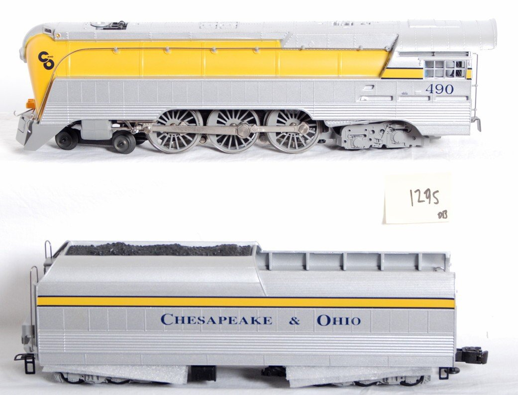 1295: Lionel 18043 C&O Yellow Belly Hudson