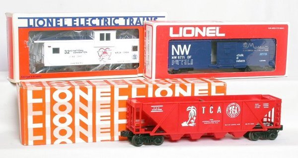 4: Lionel TCA freight cars 6436-1969 9771 6926
