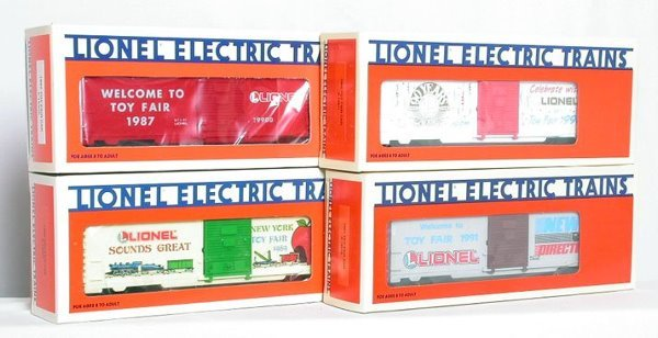 8: Lionel Toy Fair boxcars 19900 19907 19911 19914