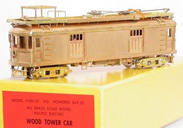13: Suydam 00157 Pacific Electric wood tower car