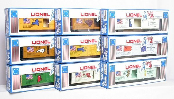 24: Lionel Spirit of '76 set 13 boxcars two cabooses