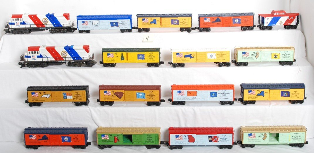 4: 17 Lionel spirit of 76 locos and cars
