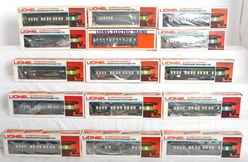 5: 15 Lionel TCA pass cars 9544, 7212, 7206, etc.