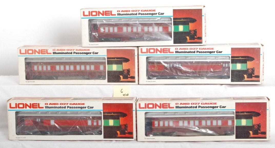 6: 5 Lionel Chicago and Alton passenger cars 9554-58