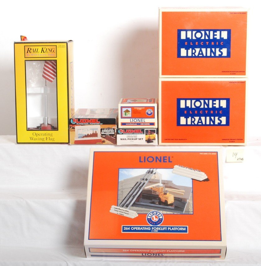 14: 7 Lionel MTH accessories 12818, 14000,  etc.