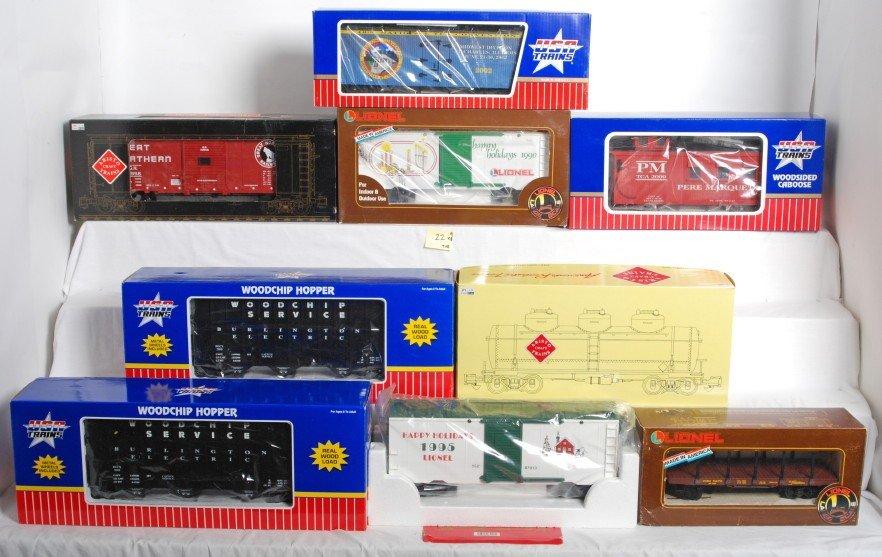 22: 9 TCA / Lionel G Scale cars 87013, 87007, etc.