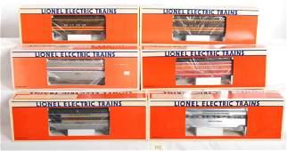 146 6 Lionel aluminum passenger cars 19129 19109 etc