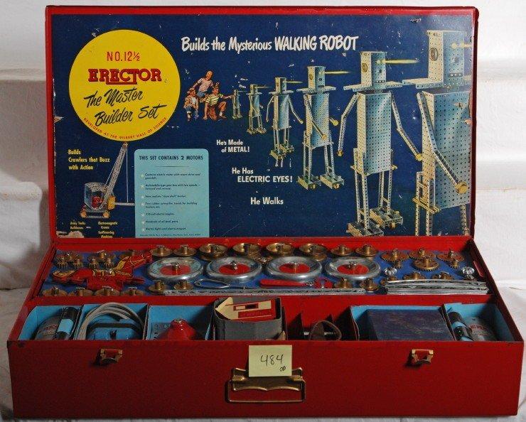 484: Gilbert Erector 12 1/2 robot set
