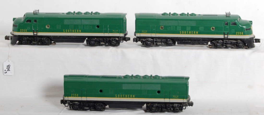 804: Lionel No. 2356 Southern F3 A-B-A units