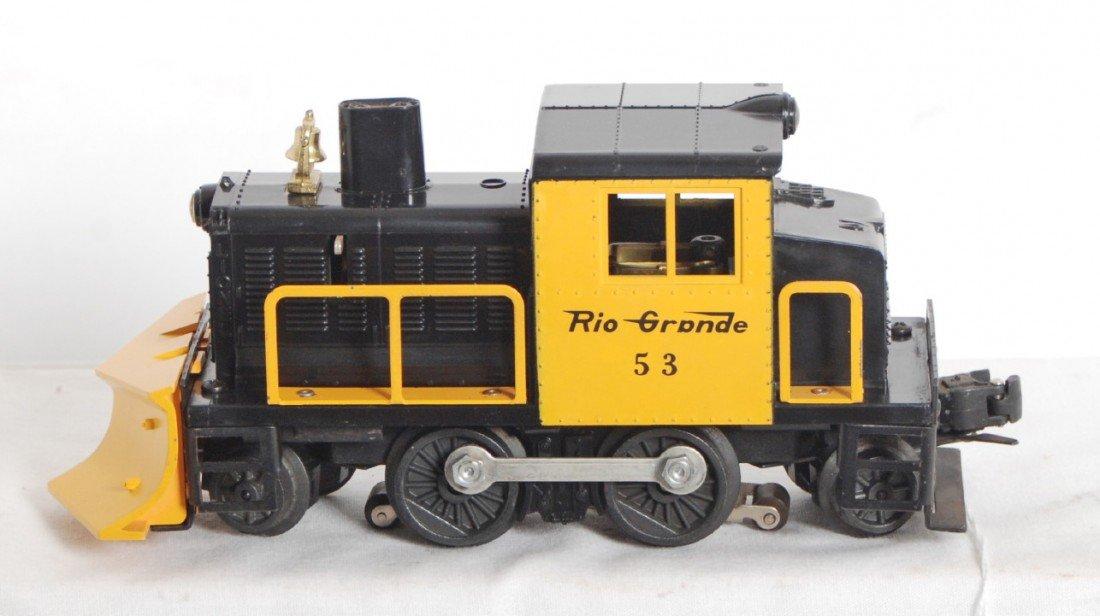 805: Lionel No. 53 Rio Grande reverse a snowplow