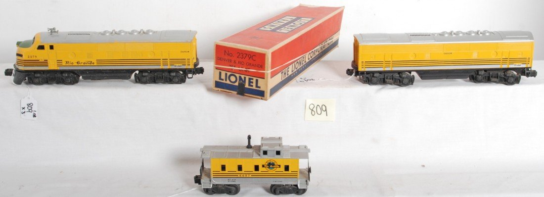 809: Lionel No. 2379 D&RGW F3 A-B and 6657 caboose