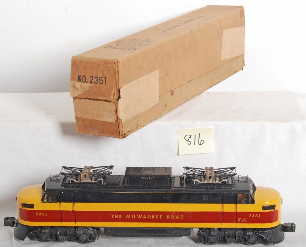 816: Lionel No. 2351 The Milwaukee Road EP5 electric in