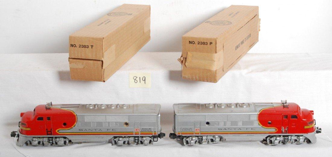 819: Lionel No. 2343 Santa Fe F3a diesel units in OB