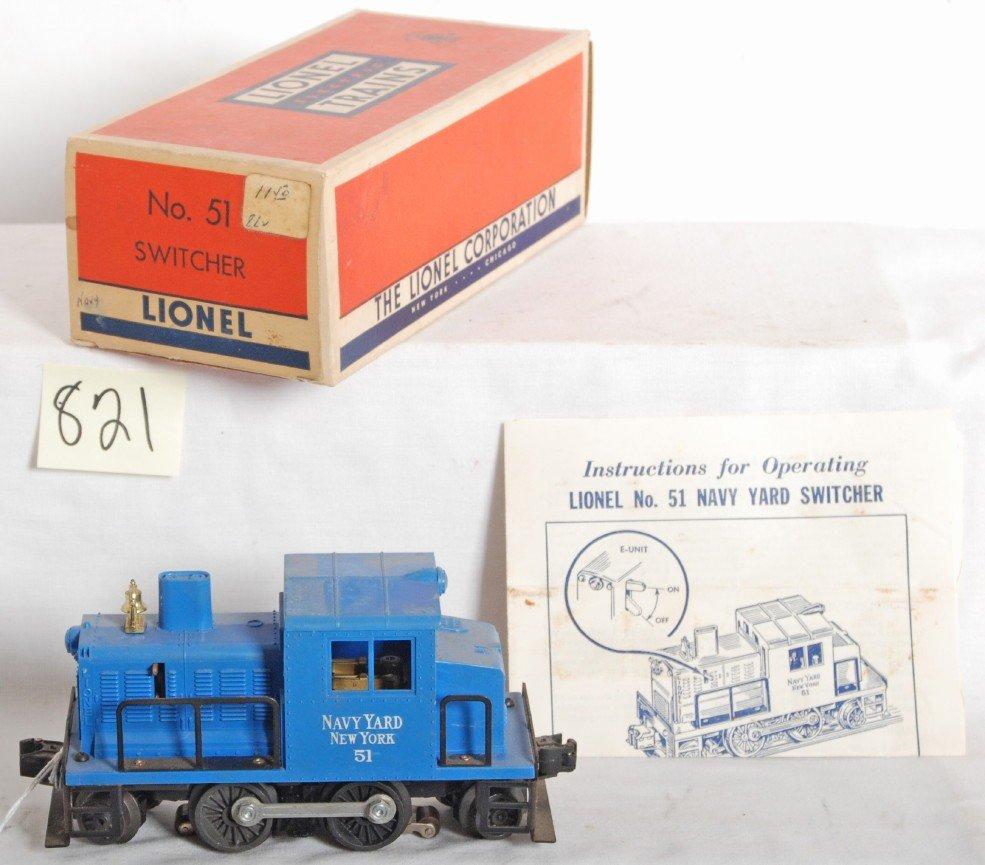 821: Lionel No. 51 Navy Yard diesel switcher in OB