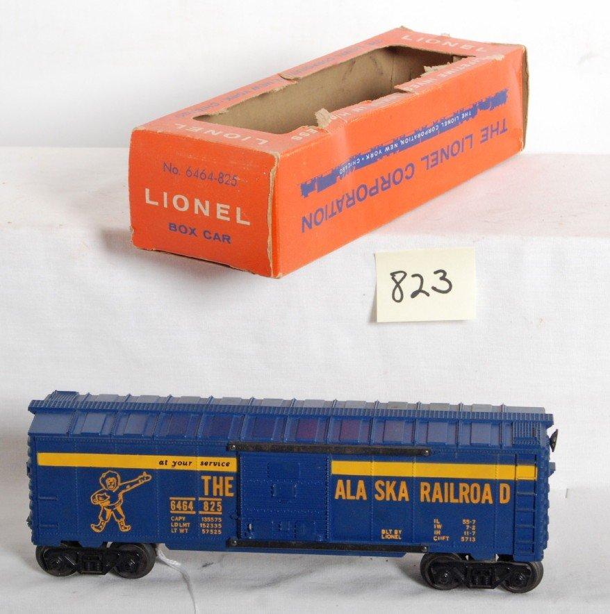 823: Lionel No. 6464-825 Alaska boxcar in OB