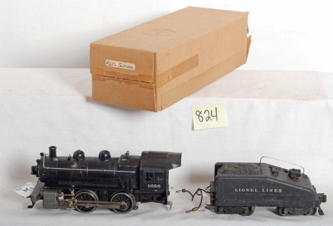 824: Lionel No. 1656 switcher and No. 6403B tender