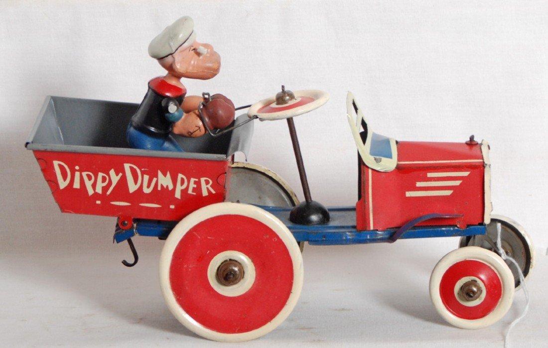 927: Marx Popeye Dippy Dumper tin windup toy