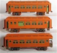 1221 Three Lionel standard gauge passenger cars