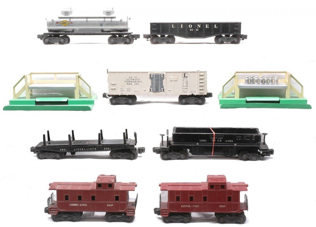 8: Lionel Freights 3462 2-3462P 612 6465 2-6017