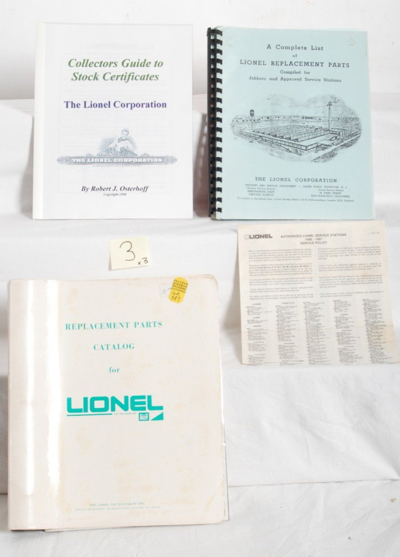 3: Modern era Lionel O gauge replacement parts, more