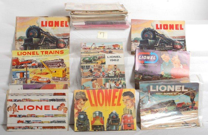 7: Large lot of Lionel postwar catalogs, Mint to Pulp