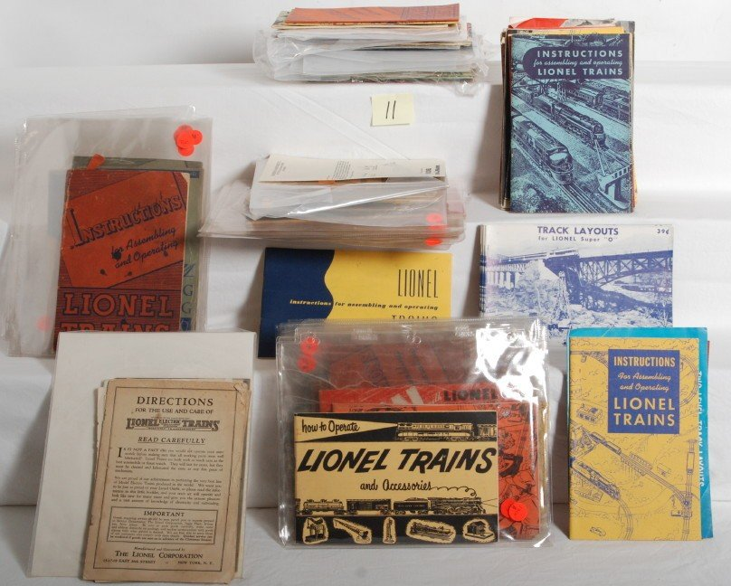 11: Approximately 95 Lionel instructions/How to booklet