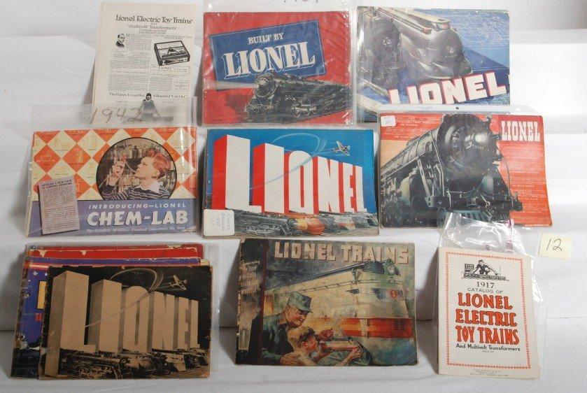 12: Twelve Lionel prewar catalogs