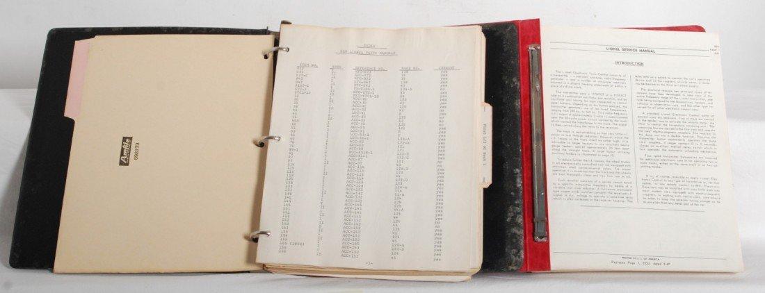 13: Lionel postwar service manual and old Lionel parts
