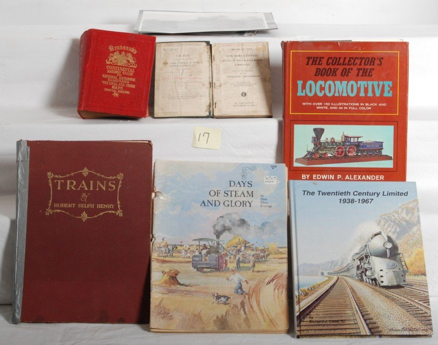 17: Railroad/railway books, maps, pictures, S.B. & H.B.