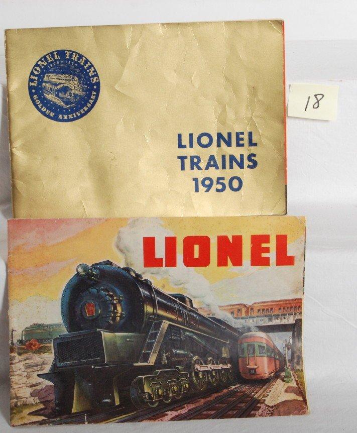 18: Postwar Lionel 1950 Golden Anniversary catalog