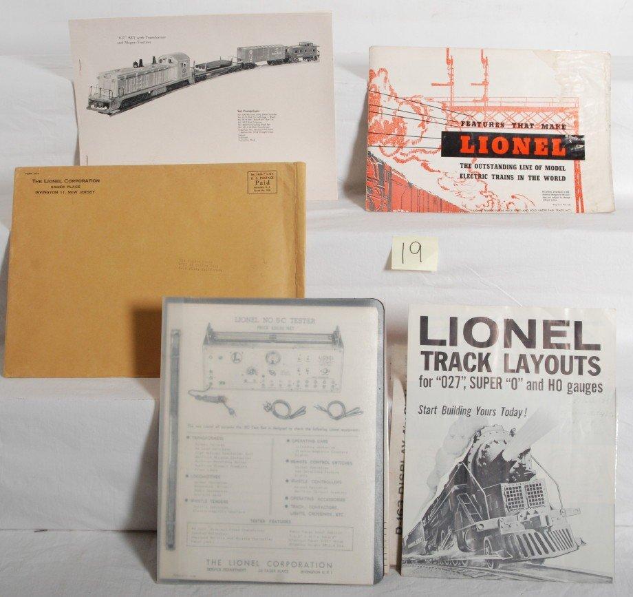 19: 1954 Lionel O ga. dealer advance promotional displa