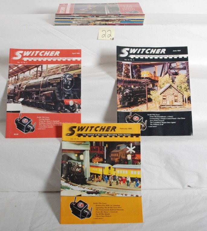 22: Eighteen issues of Switcher The Journal of LOTS