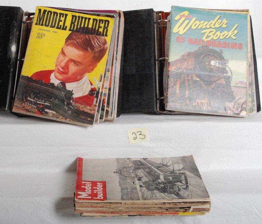 23: Large lot of Lionel Model Builder magazines 1937-49