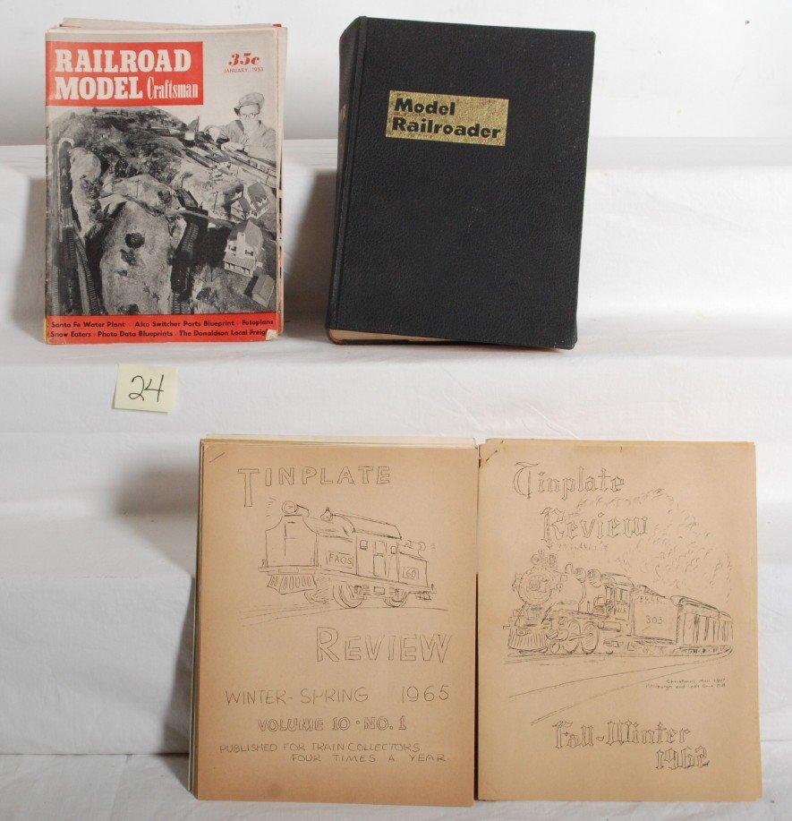 24: Model Railroader, Model Craftsman, Tinplate Review.